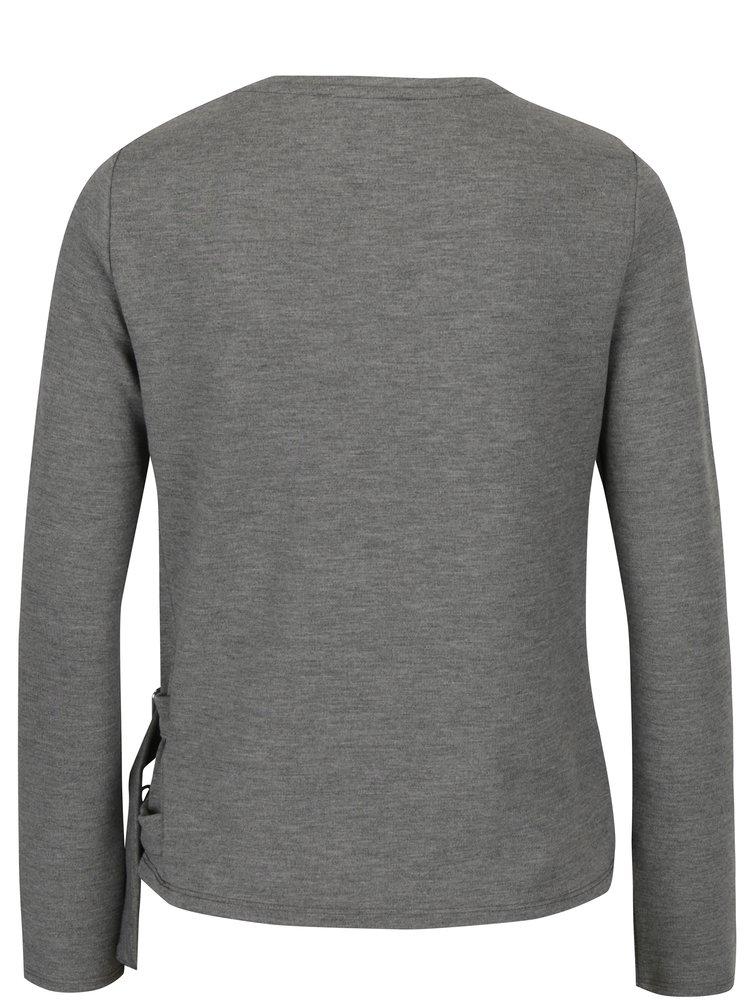 Bluza gri melanj cu detalii metalice laterale - TALLY WEiJL