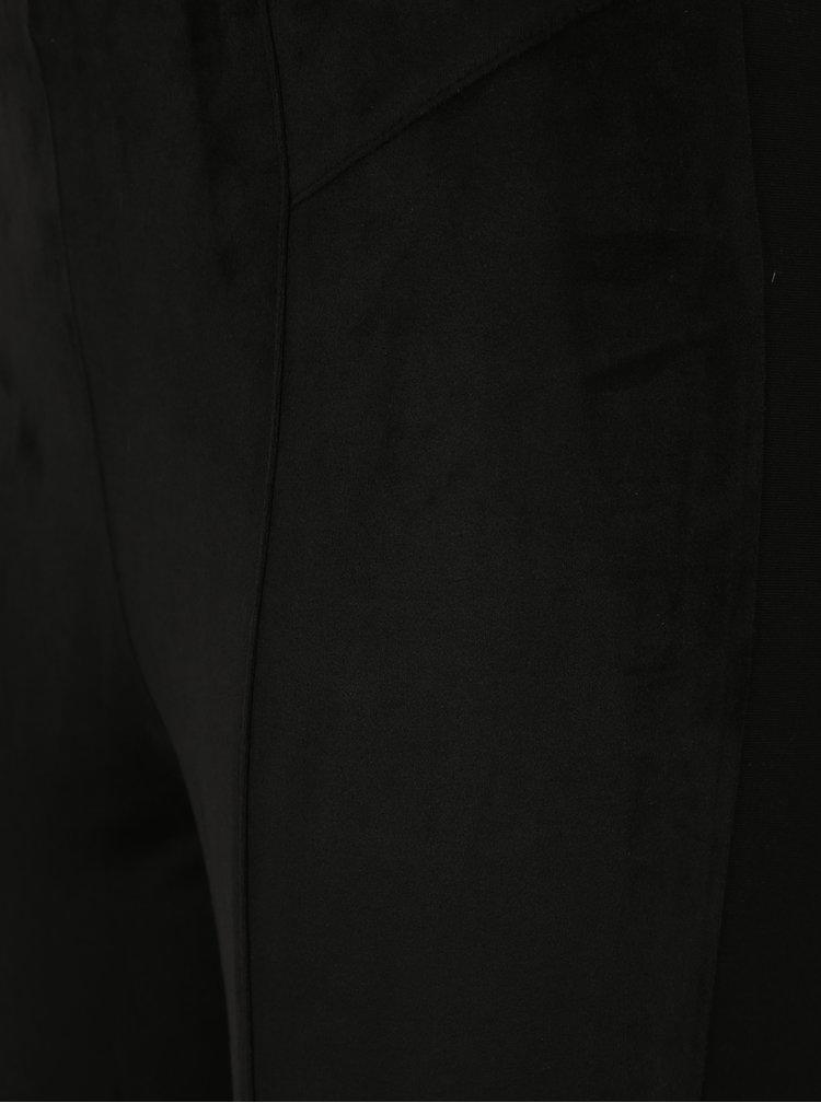Černé legíny v semišové úpravě s vysokým pasem M&Co