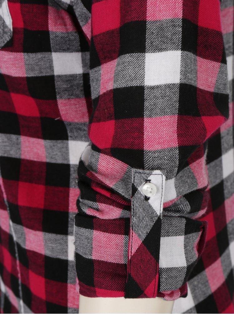 Camasa in carouri roz& negru cu buzunare si maneci ajustabile -  TALLY WEiJL