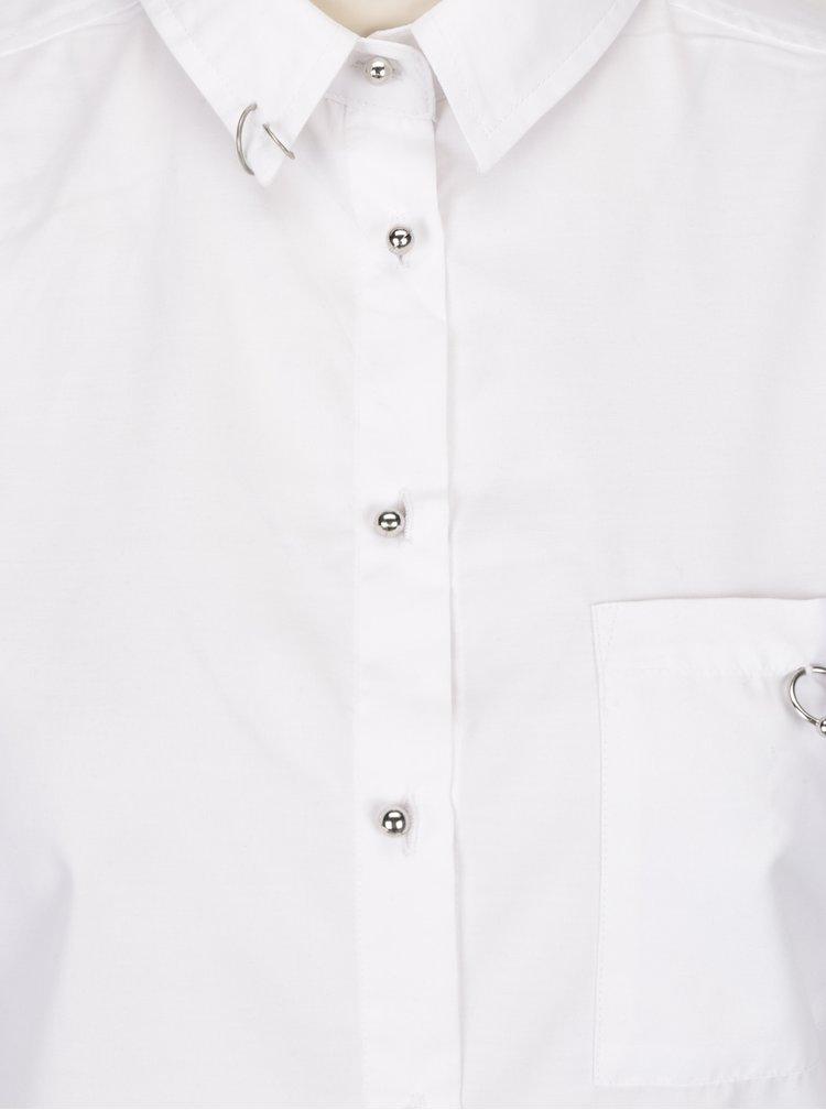 Camasa alba cu detalii metalice si maneci ajustabile - TALLY WEiJL