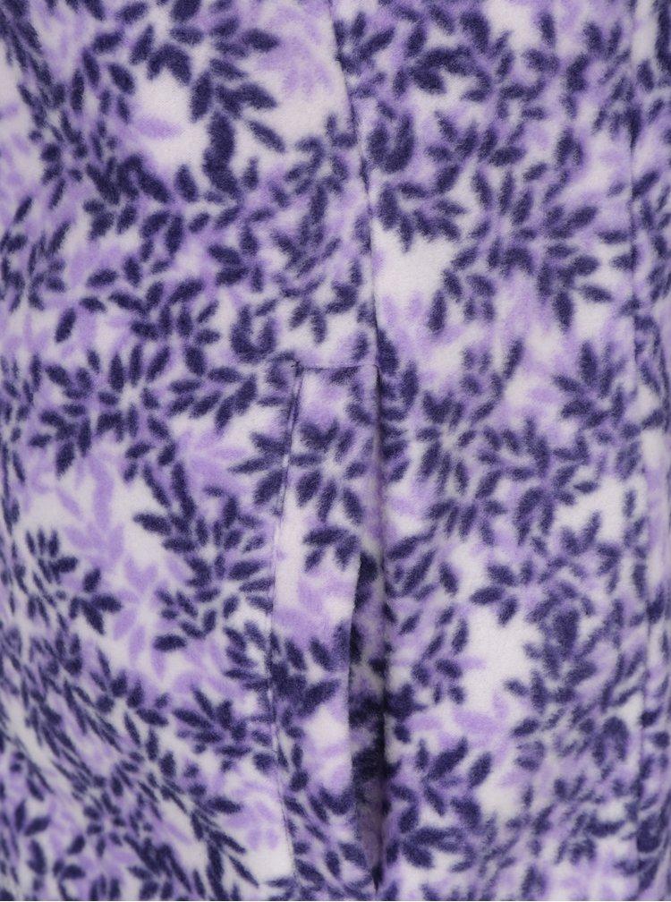 Krémovo-fialová květovaná mikina M&Co