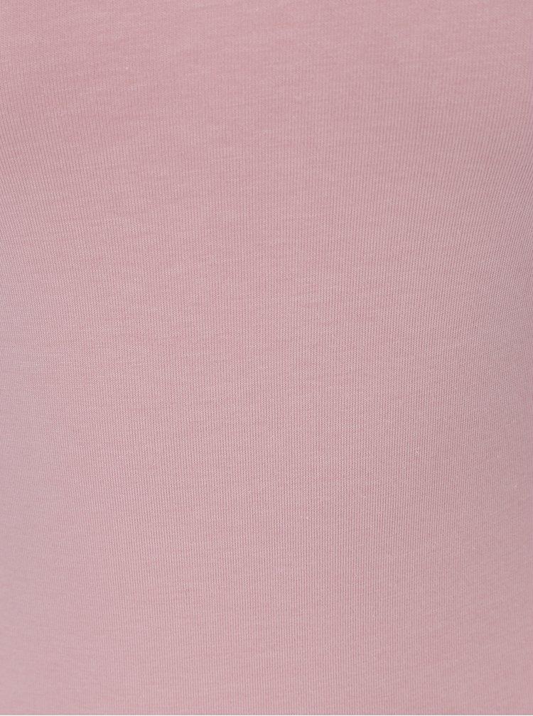 Body roz prafuit cu maneci 3/4 - ZOOT