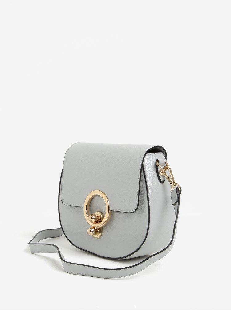 Světle šedá crossbody kabelka s detaily ve zlaté barvě ONLY Zinia