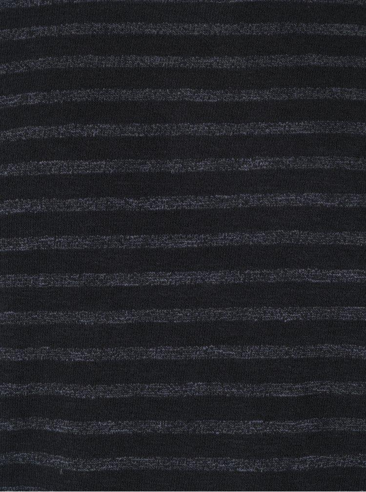 Černé pruhované tričko Jack & Jones Vintage Ellis