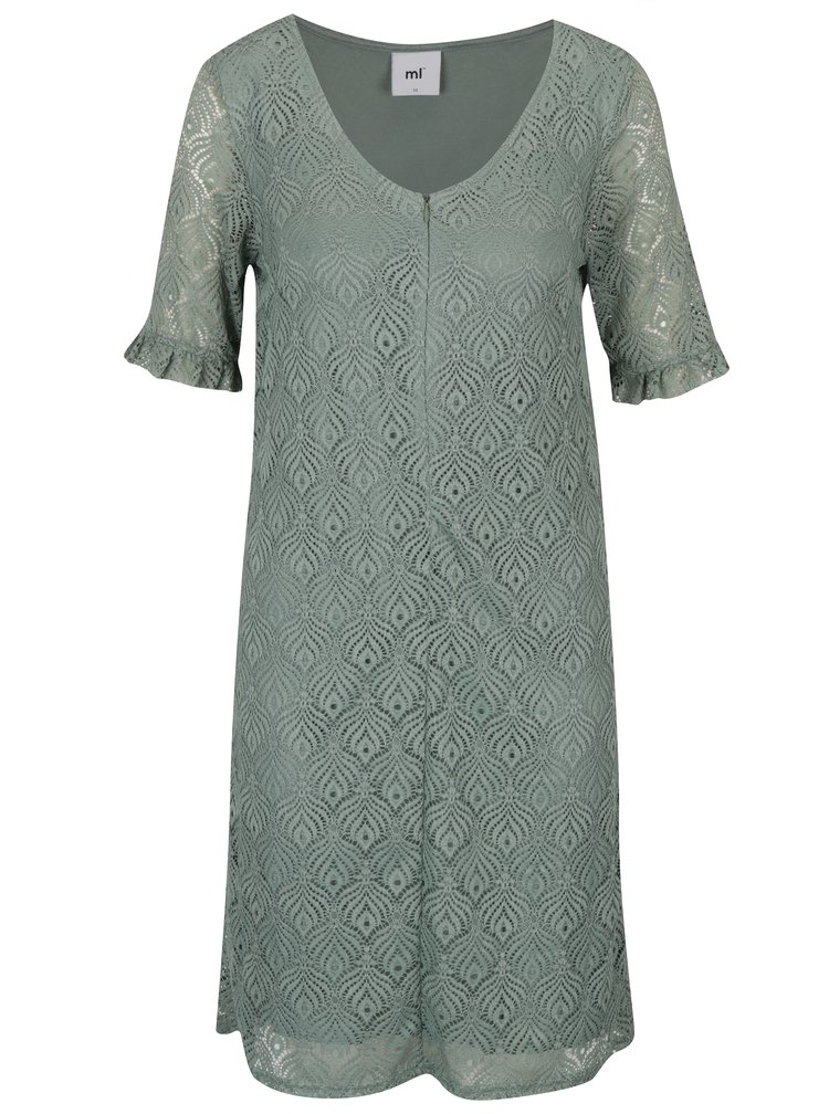 Světle zelené kojicí krajkové šaty Mama.licious Lucy