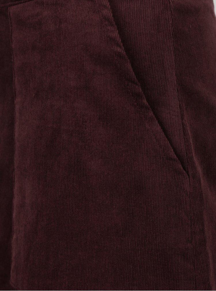 Vínová manšestrová sukně Louche London
