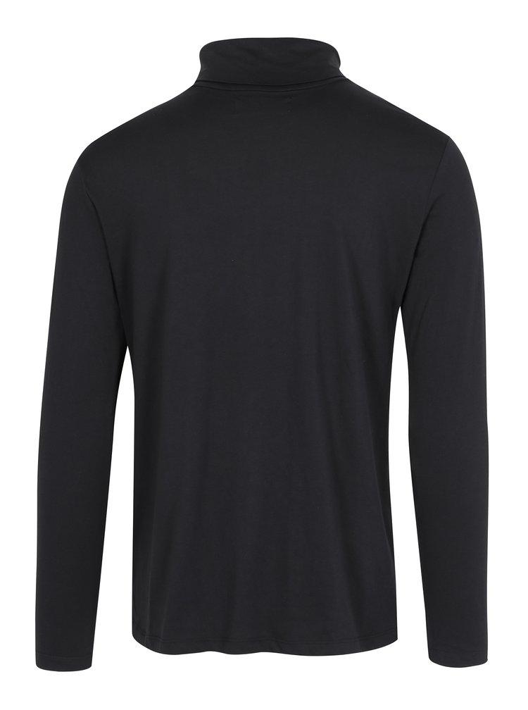 Bluza cu guler inalt neagra Lindbergh