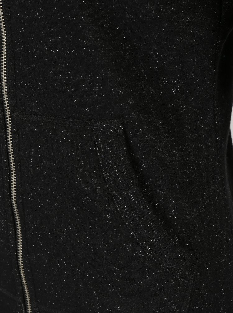 Hanorac negru cu fermoar pentru femei - Superdry Orange