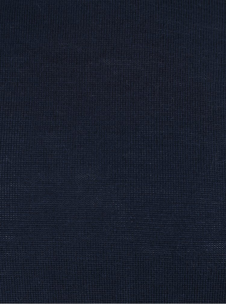 Helanca bleumarin din amestec de lana Merino Lindbergh