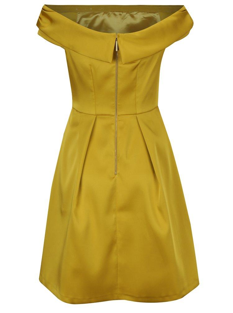 Žluté šaty s odhalenými rameny Closet