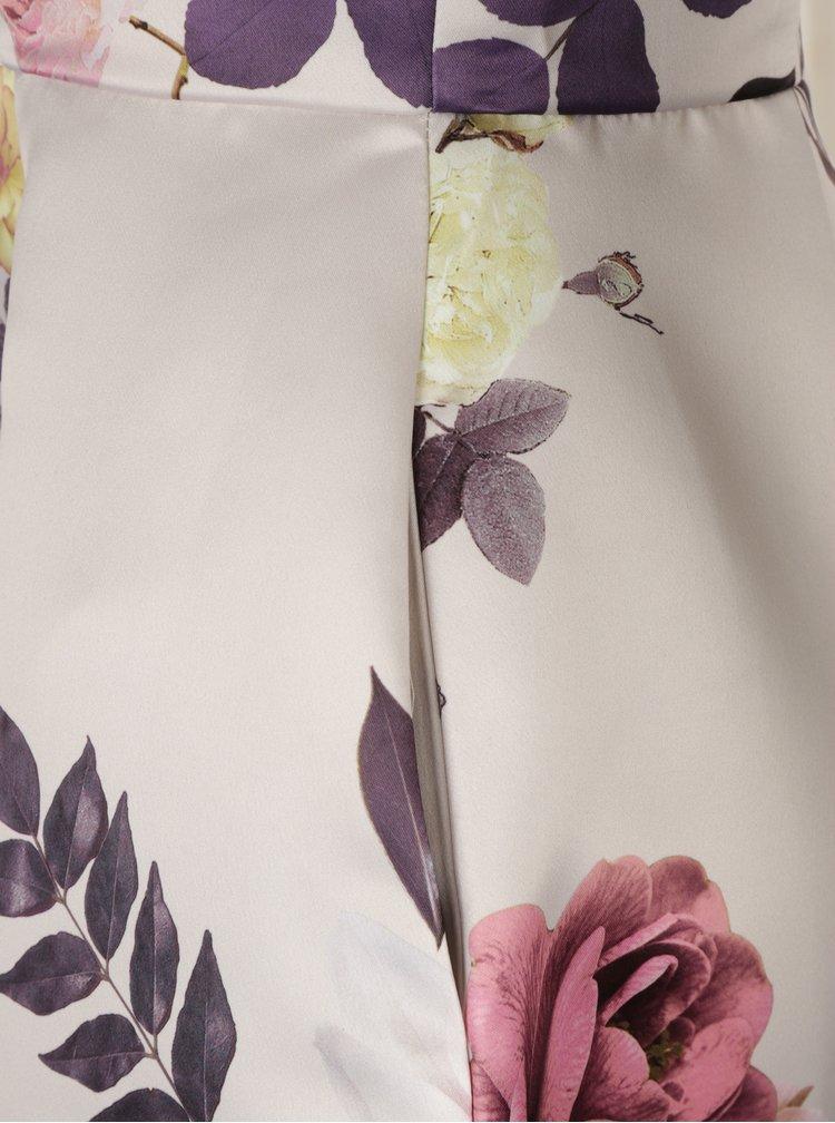 Béžové květované šaty Closet