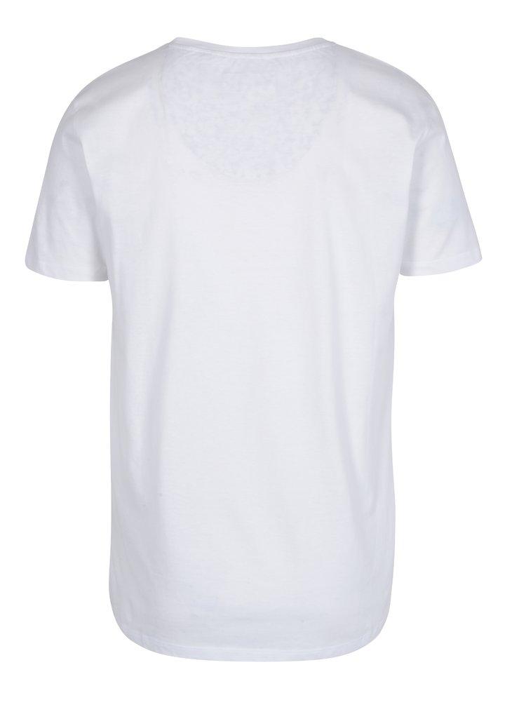 Bílé tričko s kapsou Lindbergh