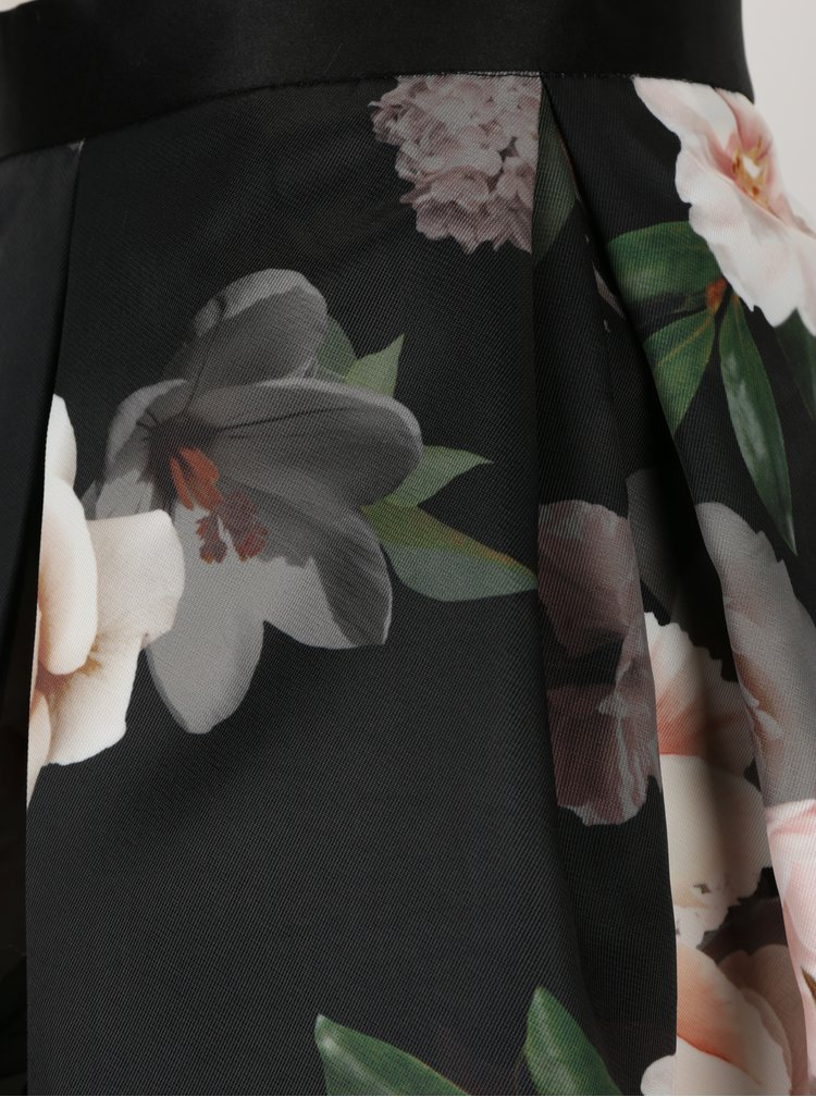 Fusta neagra cu print floral  Closet