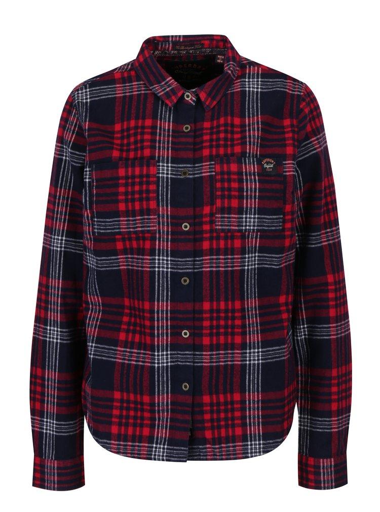 Camasa bleumarin & rosu cu print tartan pentru femei - Superdry Lumber