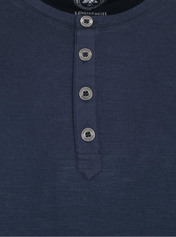 Tmavě modré tričko s knoflíky Lindbergh