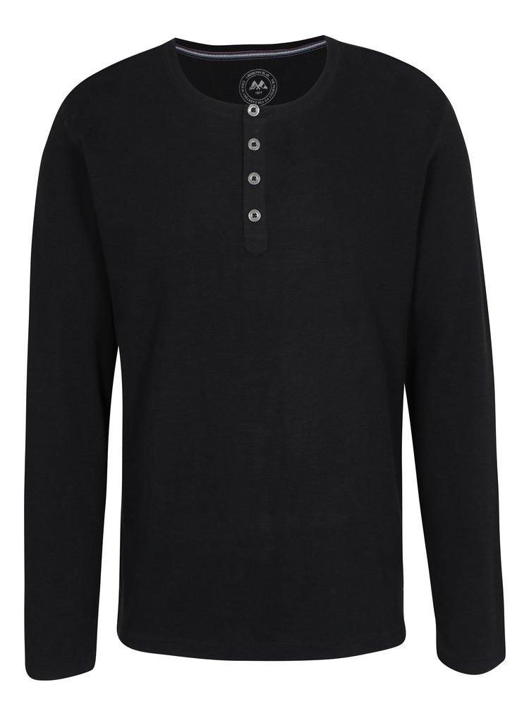 Černé tričko s knoflíky Lindbergh