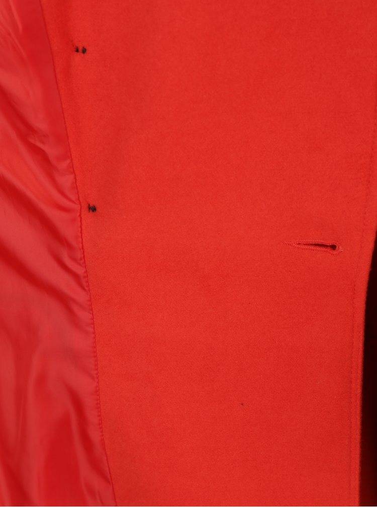 Palton rosu cu doua randuri de nasturi  Miss Selfridge