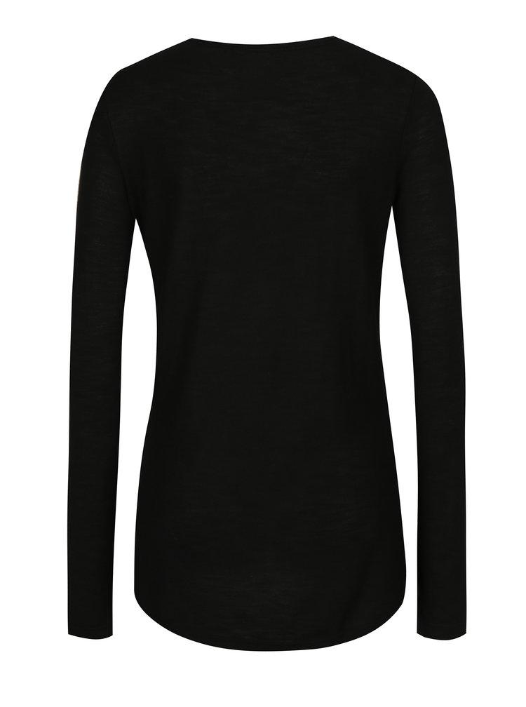 Bluza neagra cu model si maneci lungi pentru femei - Superdry Northern