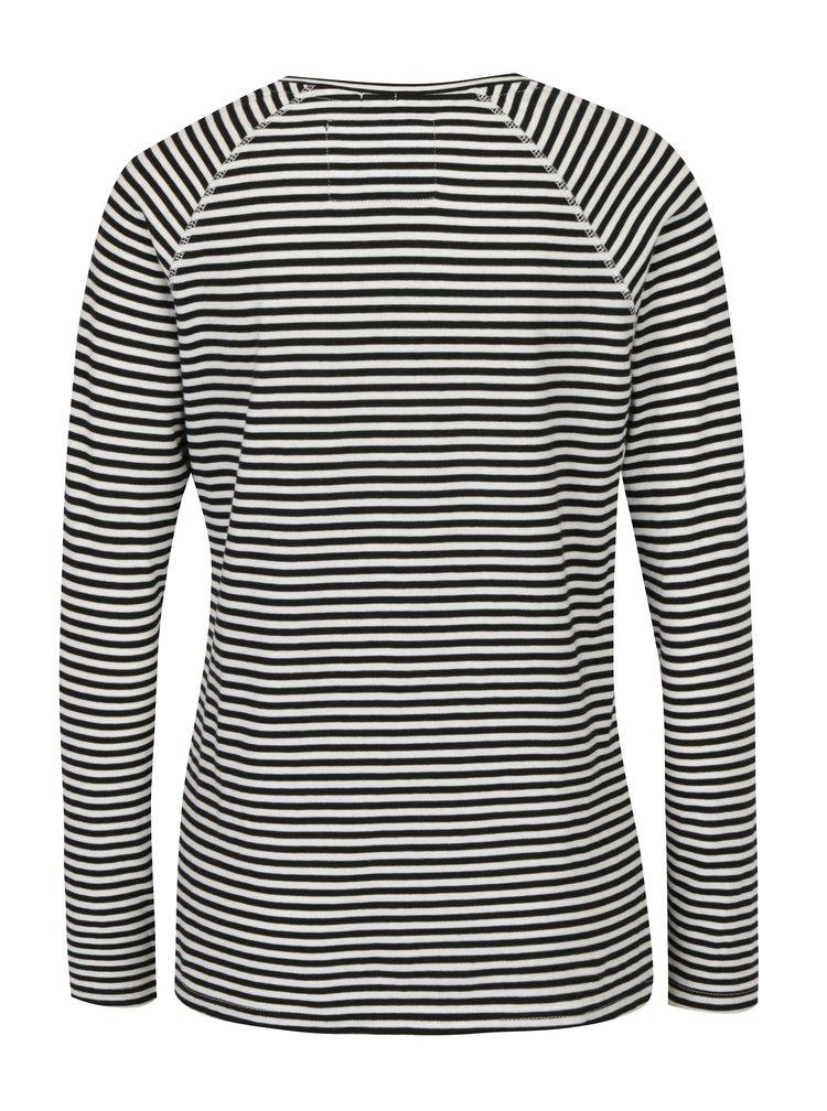 Bluza alb & negru cu print si model - Superdry Applique