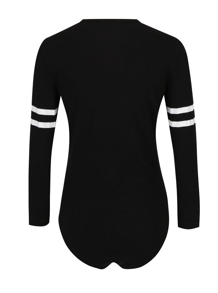 Body negru cu print - Superdry Baseball