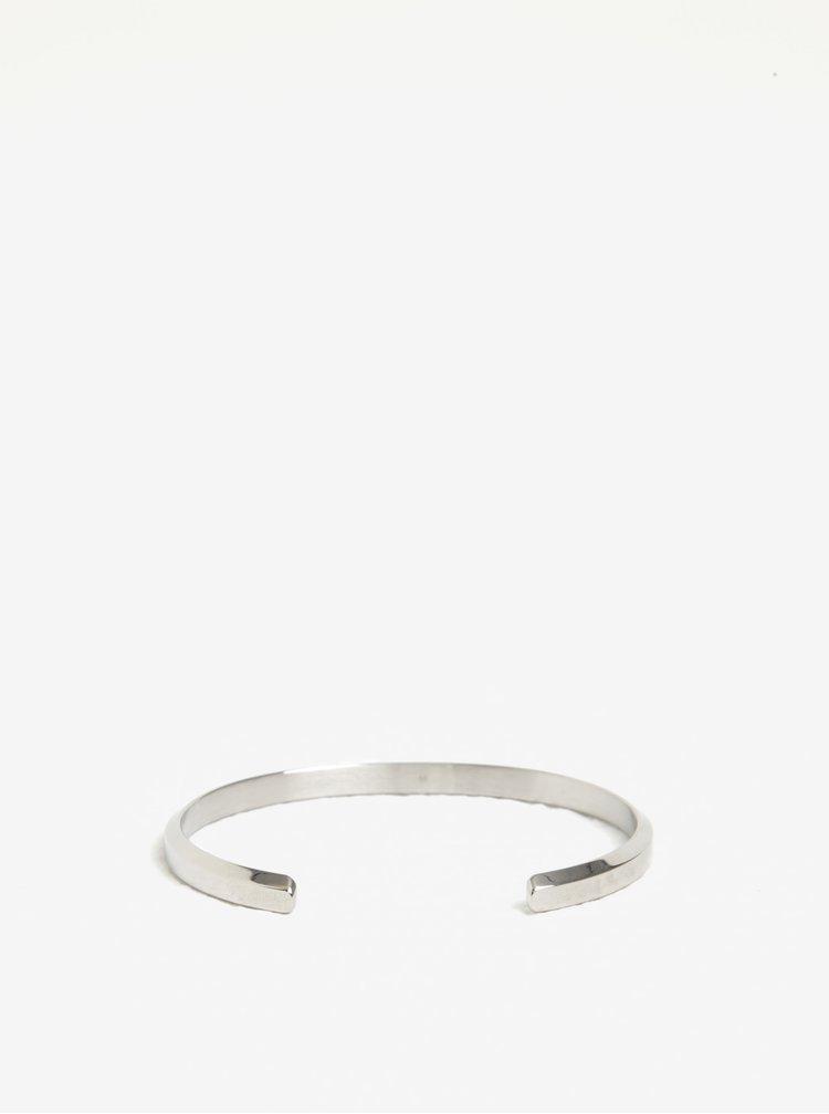 Dámský malý náramek ve stříbrné barvě Daniel Wellington CLASSIC Cuff