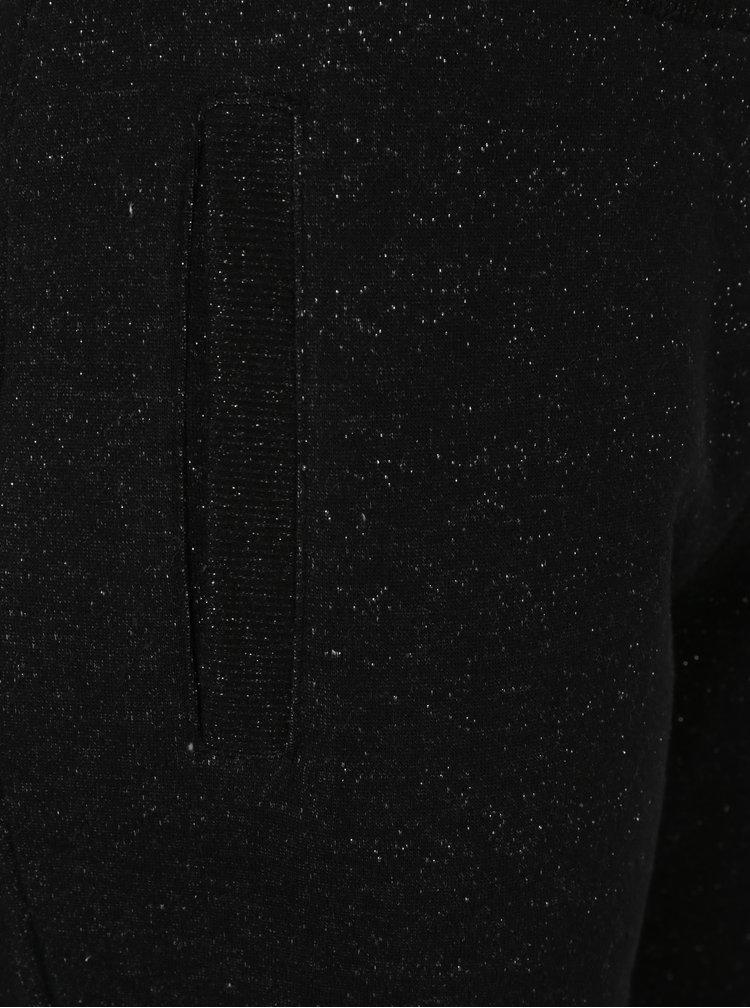 Černé dámské tepláky s třpytivým efektem Superdry Luxe