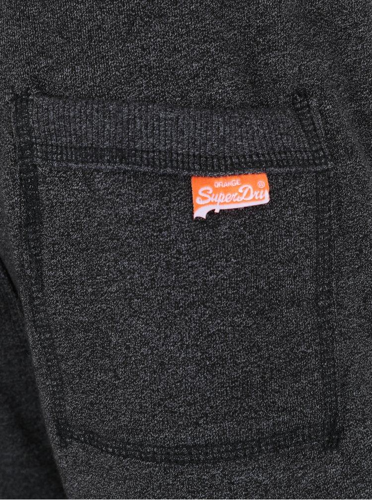 Pantaloni sport slim fit gri melanj pentru barbati -  Superdry Orange