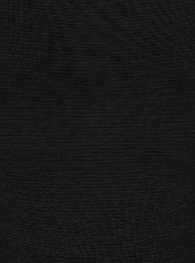 Rochie bodycon neagra cu dungi discrete in relief -  Superdry Agusta