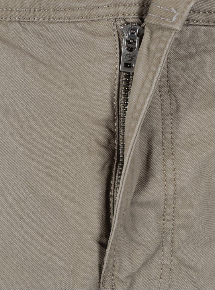 Béžové pánské slim chino kalhoty Superdry Rookie
