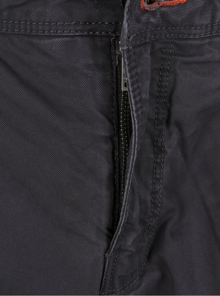 Pantaloni gri chino slim fit pentru barbati - Superdry Rookie