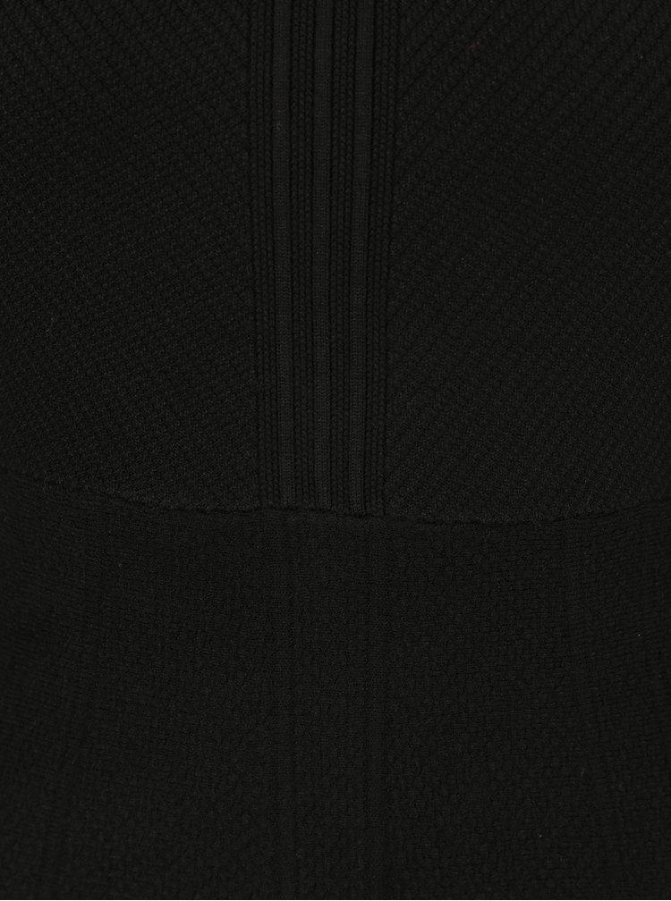 Rochie neagra in A cu maneci scurte si material elastic - Superdry Lexi