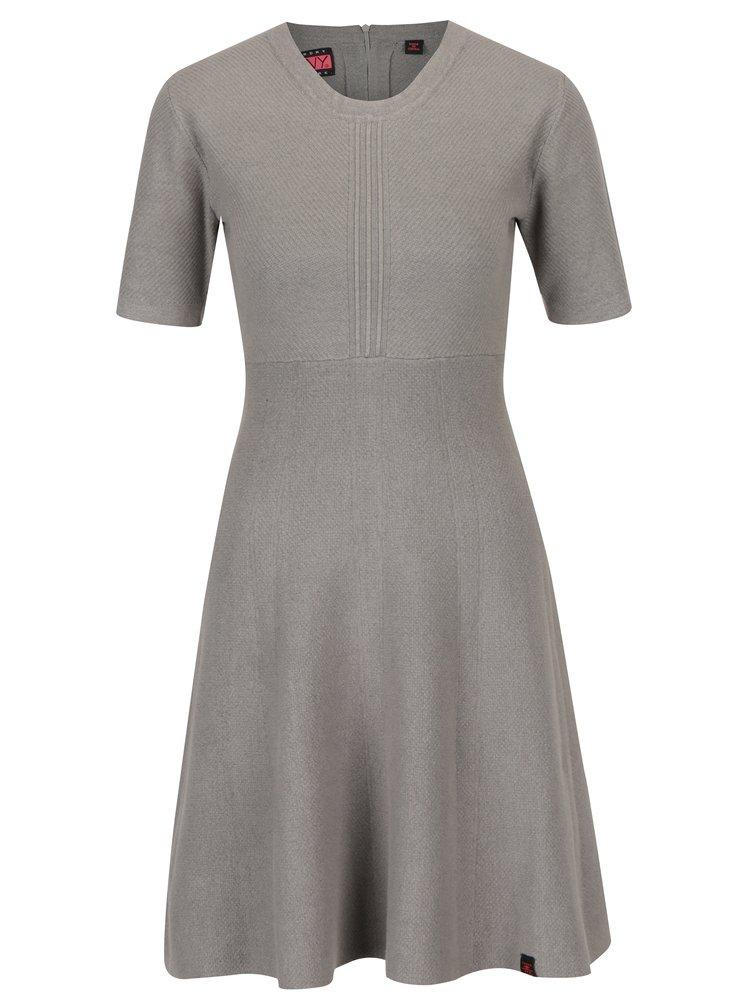 Šedé svetrové šaty Superdry Lexi