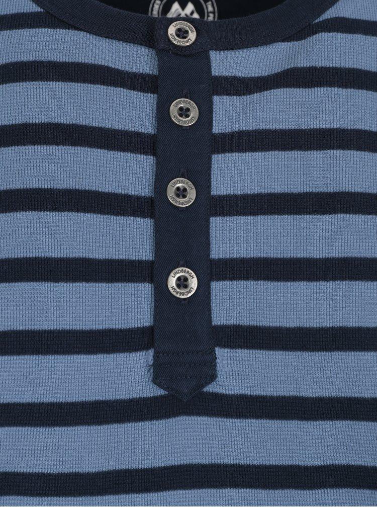 Bluza bleumarin&albastru in dungi cu nasturi Lindbergh