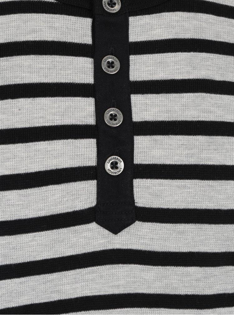 Černo-šedé pruhované tričko Lindbergh