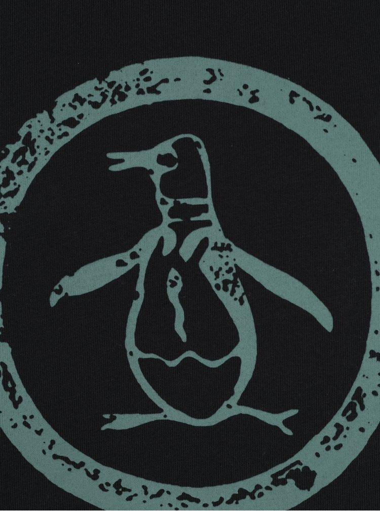Černé tričko s potiskem Original Penguin
