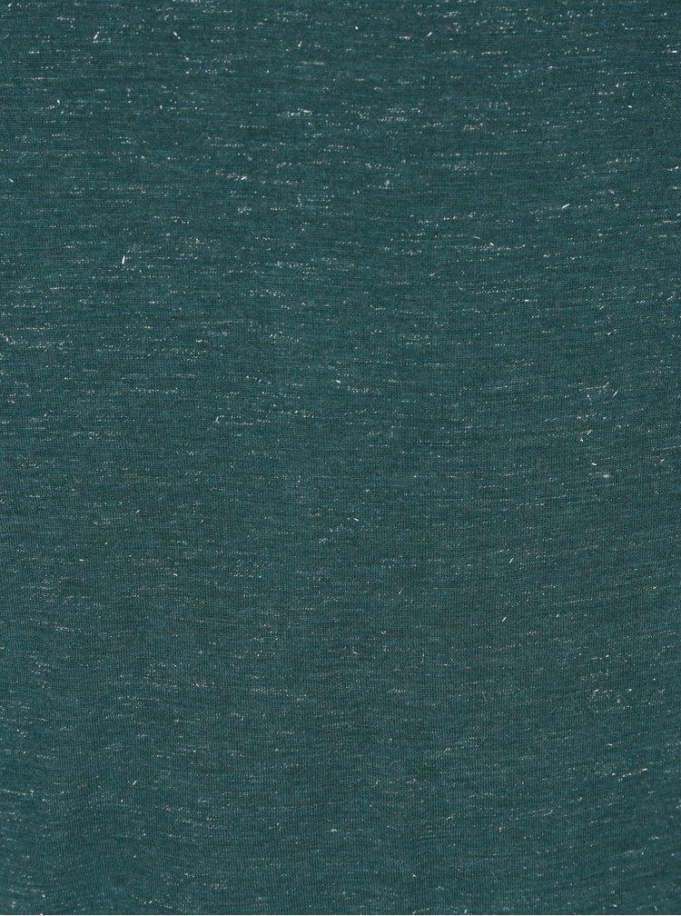 Zelené dámské tričko s průsvitným detailem na zádech Garcia Jeans