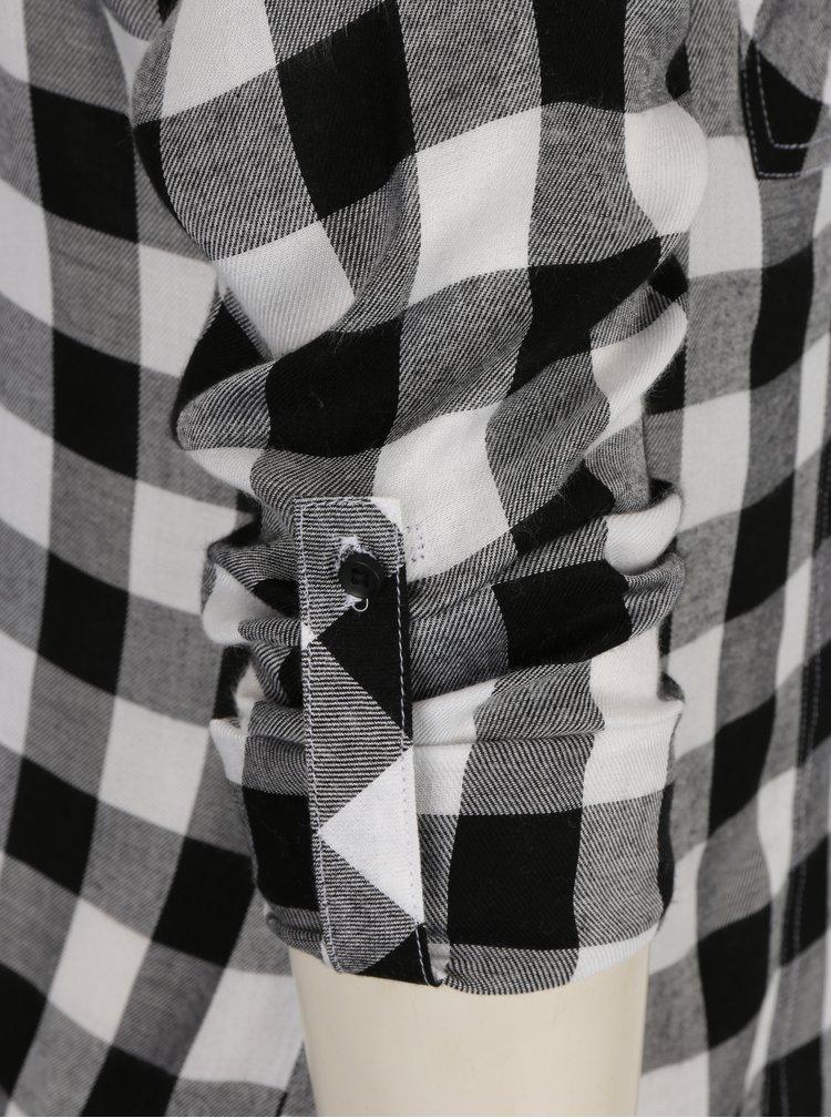 Černo-bílá kostkovaná košile s kapsami TALLY WEiJL