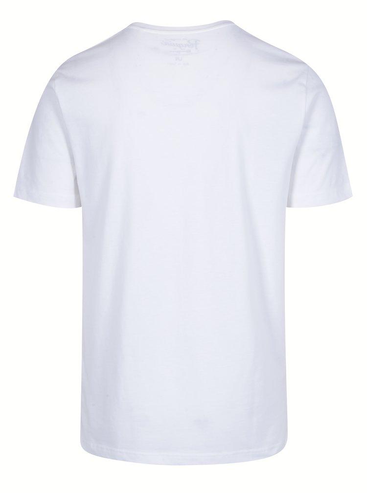 Tricou alb din bumbac cu print haios - Original Penguin