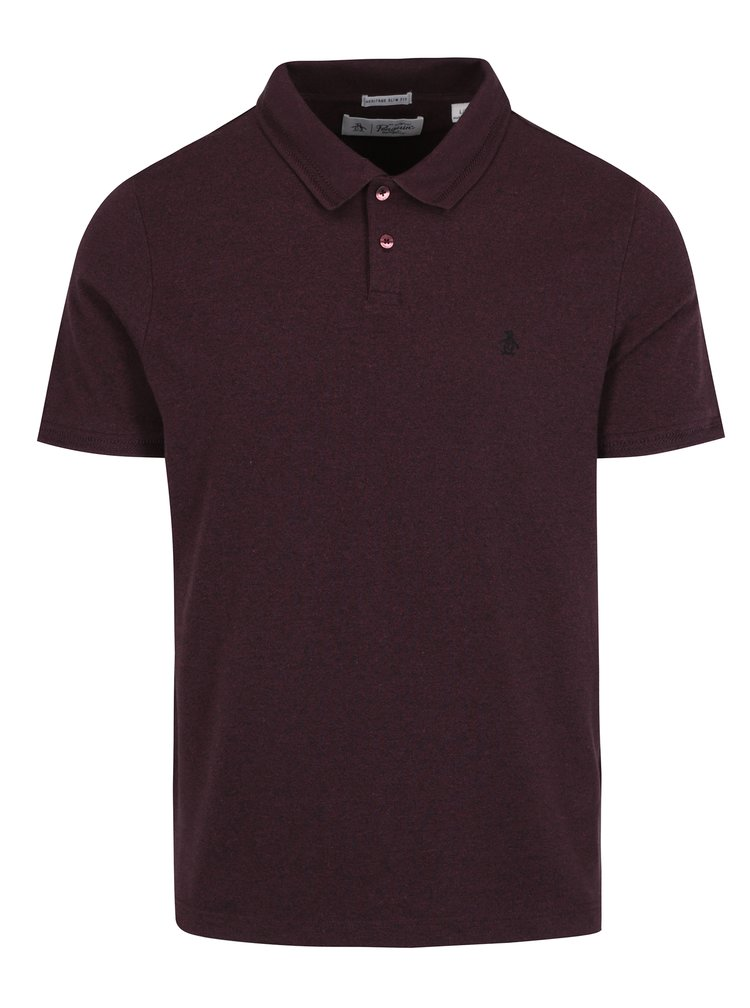 Tricou polo bordo cu logo brodat - Original Penguin
