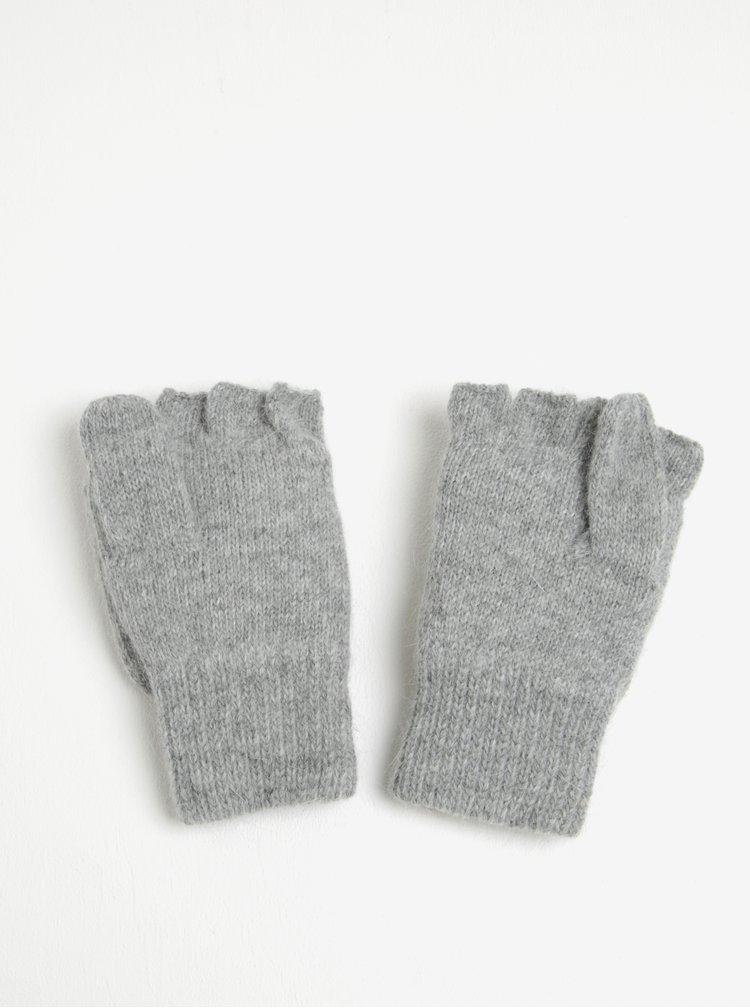 Světle šedé dámské palčáky Roxy Mittens