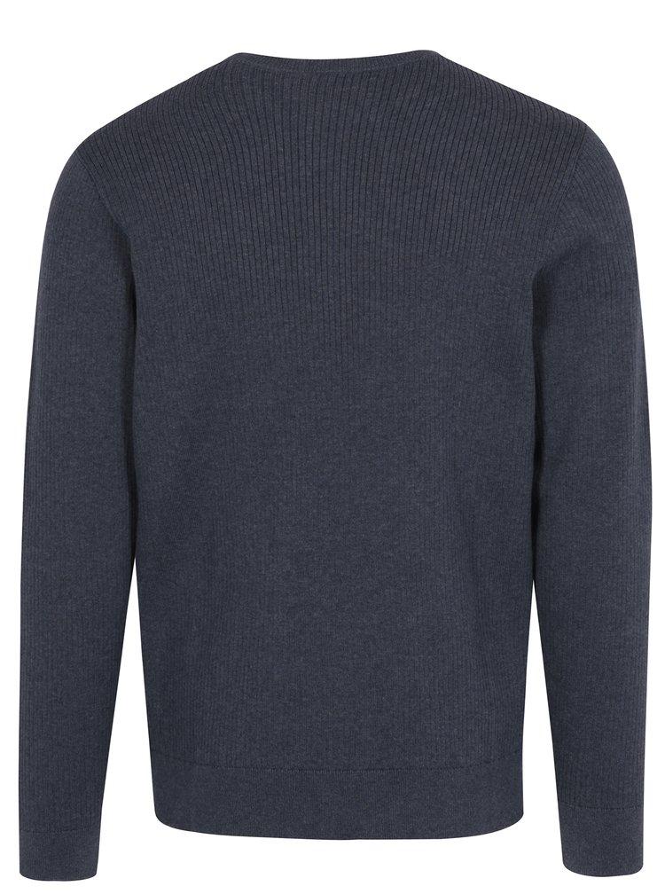Modrý žebrovaný svetr Original Penguin