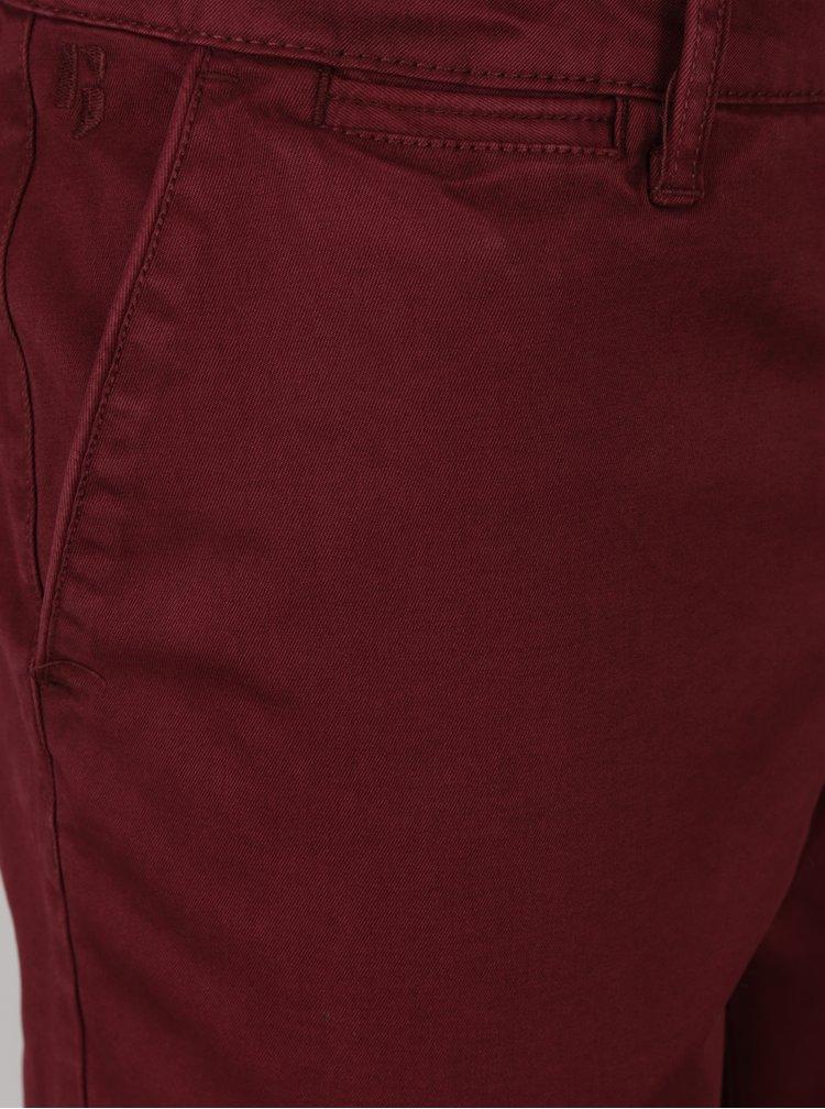 Vínové pánské stretch chino kalhoty Garcia Jeans