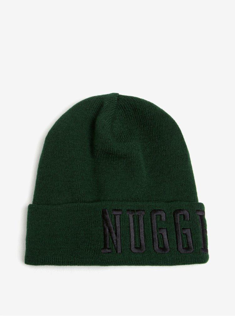 Caciula verde cu text brodat pentru barbati -  Nugget Jordan
