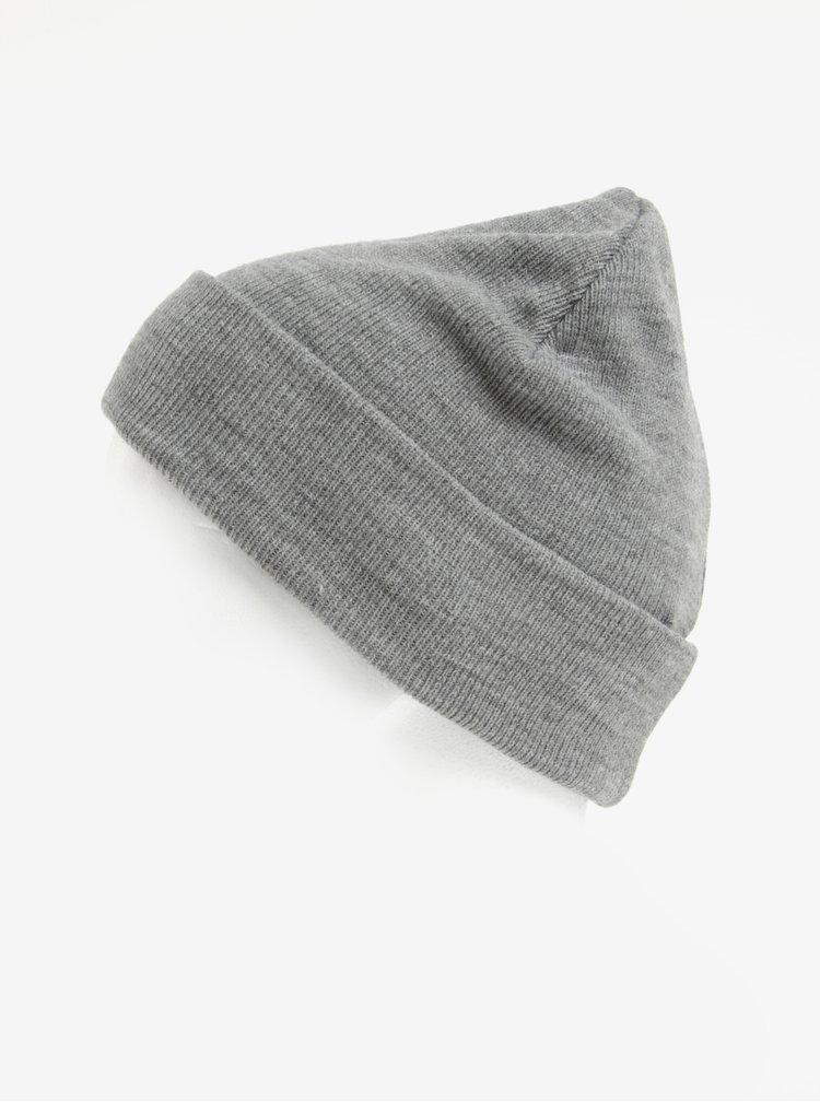 Caciula tricotata gri melanj pentru barbati Blend
