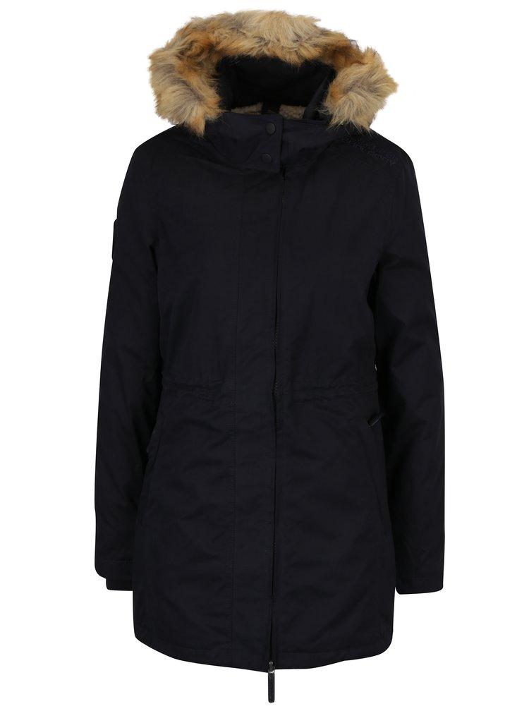 Tmavě modrá dámská parka s kapucí Superdry Hooded