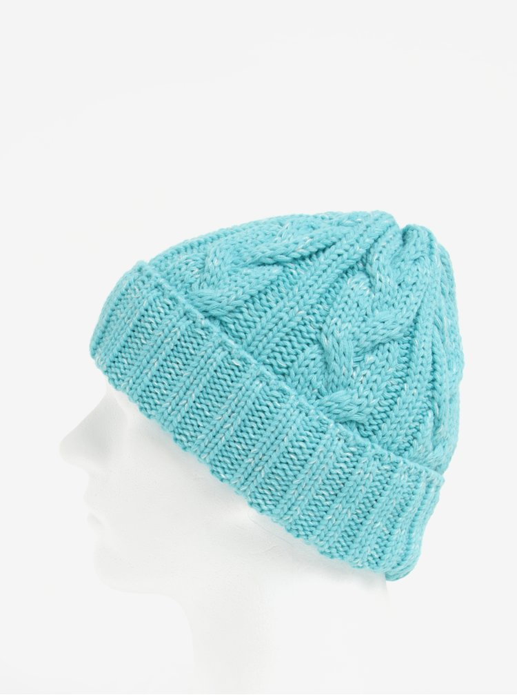 Caciula tricotata cu torsade mentol pentru femei - Nugget Sisi
