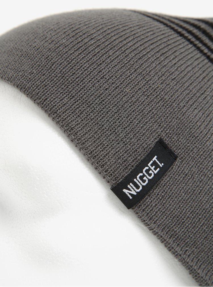 Černo-šedá pánská čepice Nugget Token