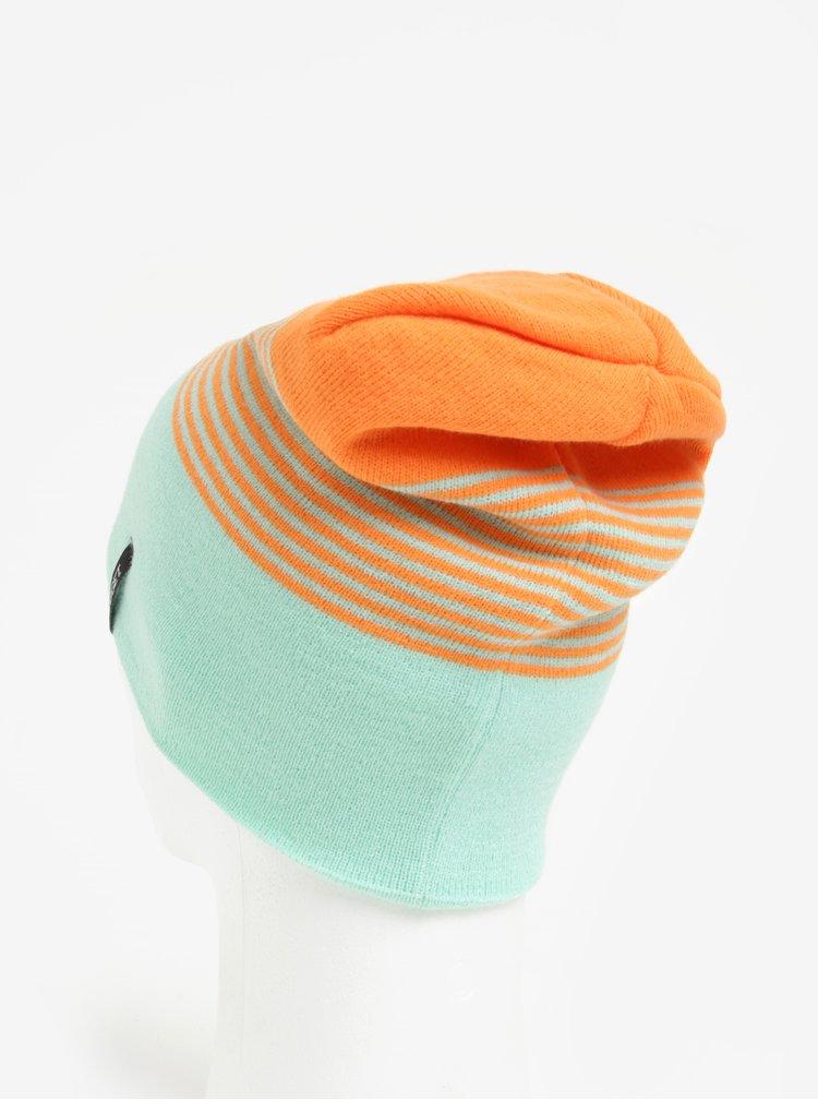 Caciula mentol cu model in dungi oranj pentru femei -  Nugget Token