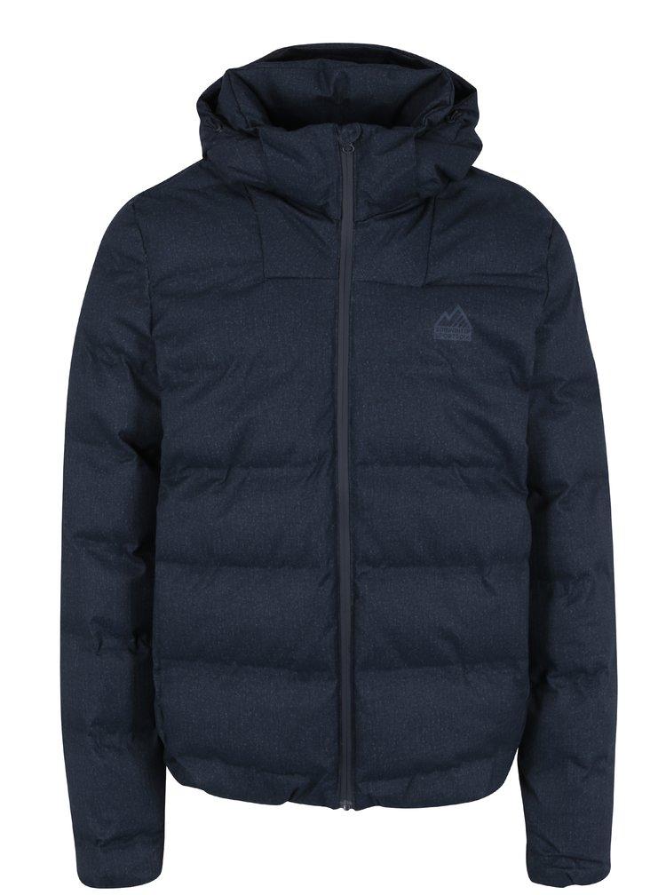 Tmavě modrá pánská zimní prošívaná bunda s kapucí Superdry Echo