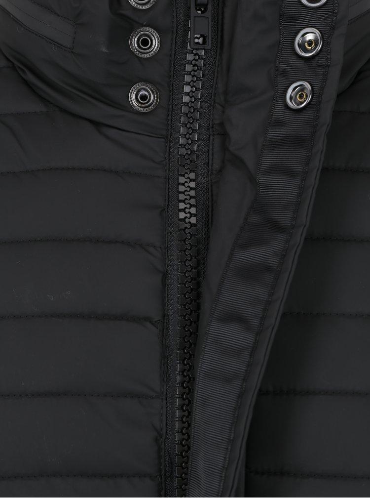 Černá pánská prošívaná nepromokavá bunda Superdry Rain